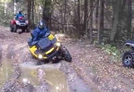 Embedded thumbnail for КВАДР24 Покатушки на квадроциклах по лесным тропам